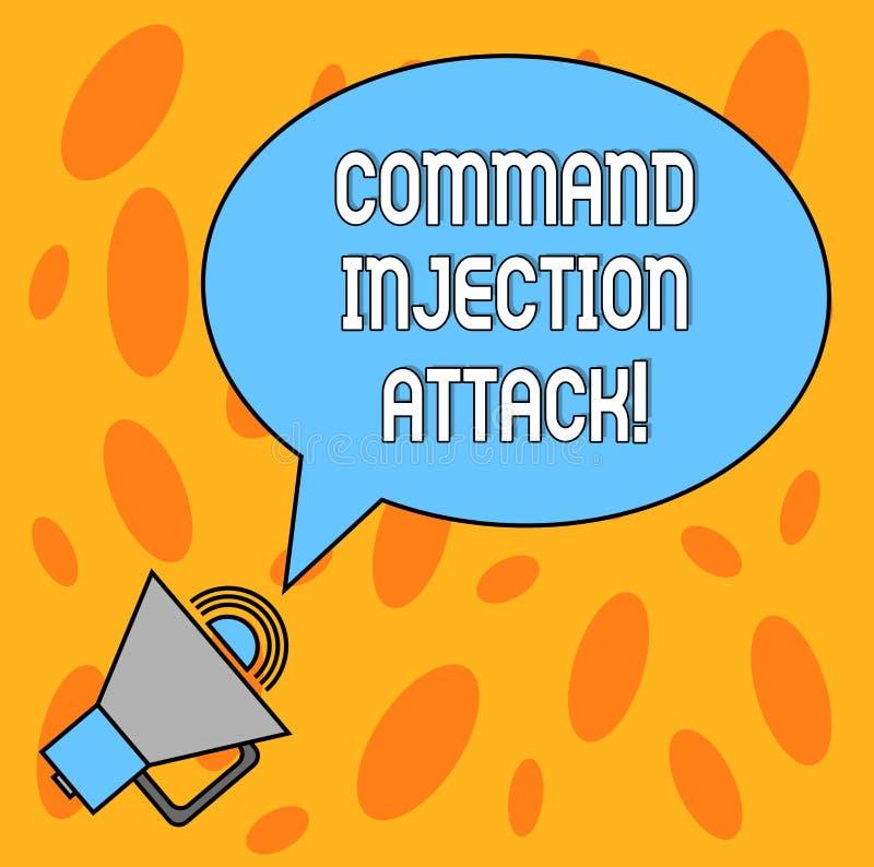 Muestra del texto que muestra ataque de la inyección de Comanalysisd Ejecución conceptual de la foto de comanalysisds arbitrarios stock de ilustración