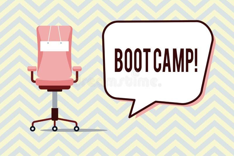 Muestra del texto que muestra Boot Camp Campo de entrenamiento militar conceptual de la foto para la aptitud dura de la disciplin libre illustration