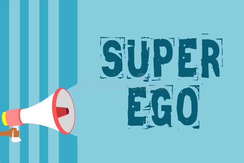 Muestra del texto que muestra ego estupendo Foto conceptual el I o el uno mismo de cualquier persona que esté autorizando su alta stock de ilustración