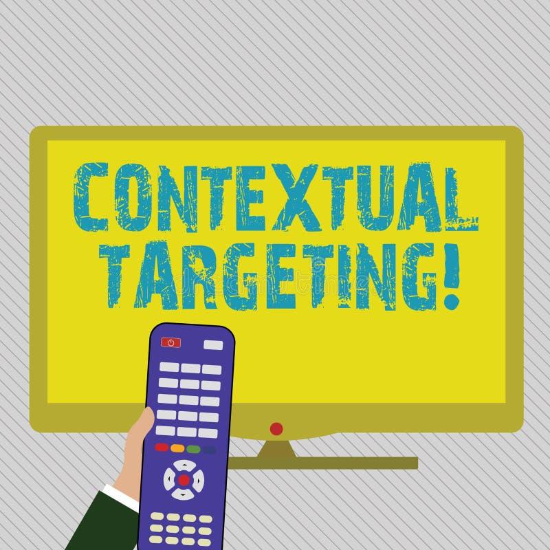 Muestra del texto que muestra el alcance del contexto La publicidad apuntada foto conceptual para los anuncios que aparecen en p? stock de ilustración