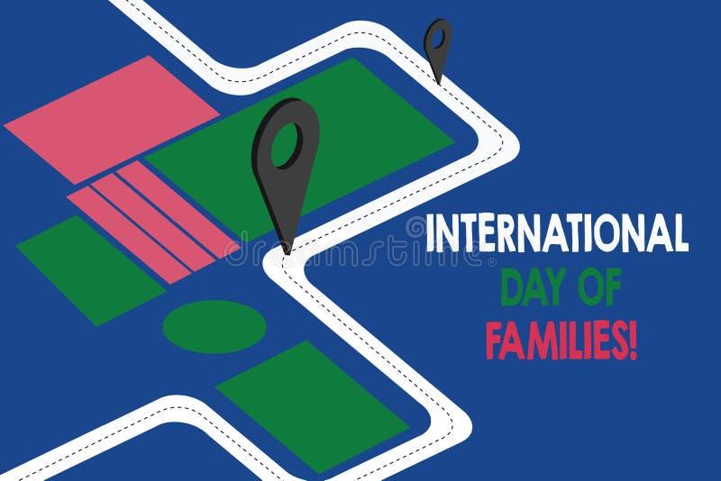 Muestra del texto que muestra el día internacional de familias Mapa de camino conceptual de la celebración de la unidad del tiemp libre illustration