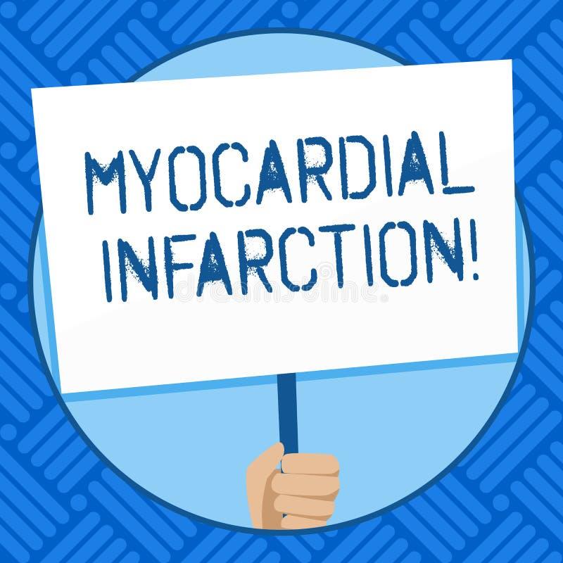 Muestra del texto que muestra el infarto del miocardio Foto conceptual debido a la privación súbita de la mano de circulación  libre illustration