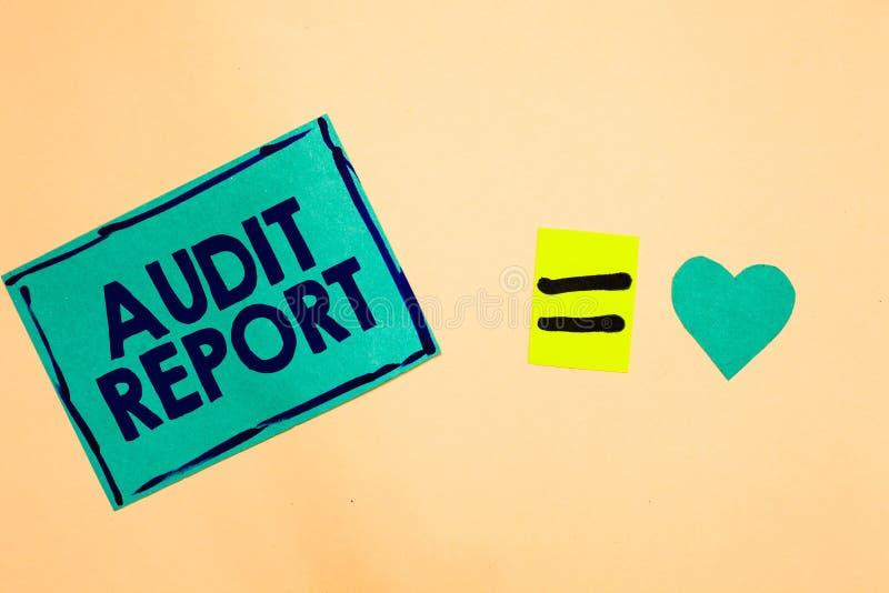 Muestra del texto que muestra el informe de auditoría Foto conceptual una valoración de la situación financiera completa de un PA stock de ilustración