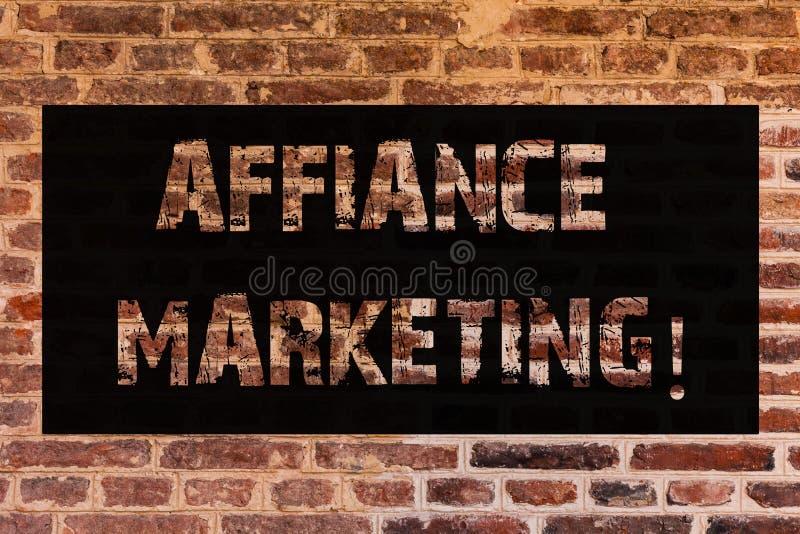Muestra del texto que muestra el márketing del Affiance Foto conceptual que se une a dos o más compañías en el mismo arte mutuo d fotografía de archivo