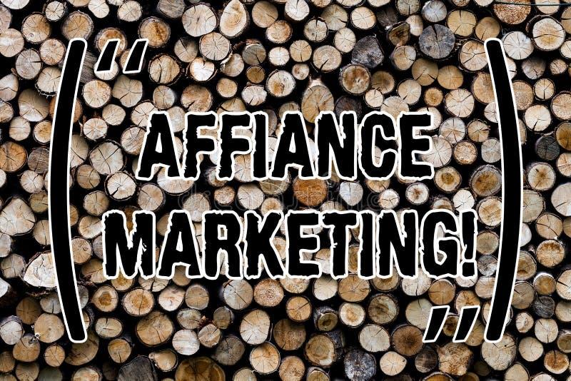 Muestra del texto que muestra el márketing del Affiance Foto conceptual que se une a dos o más compañías en el mismo fondo de mad fotografía de archivo