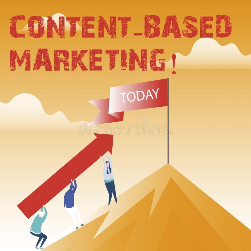 Muestra del texto que muestra el márketing basado contento Publicidad conceptual de la foto que crea datos valiosos de distribuci libre illustration