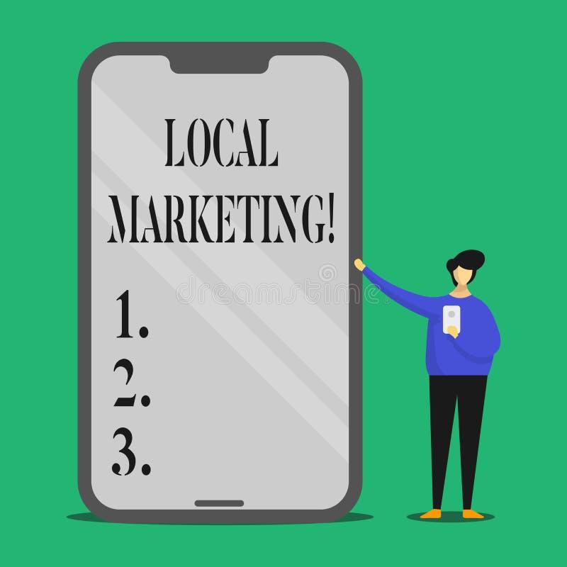 Muestra del texto que muestra el márketing local Avisos comerciales de la publicidad regional conceptual de la foto localmente ilustración del vector