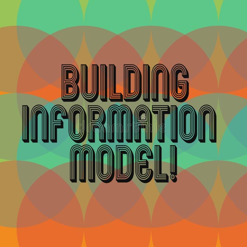 Muestra del texto que muestra el modelo constructivo de la información Representación de Digitaces conceptual de la foto de los c stock de ilustración