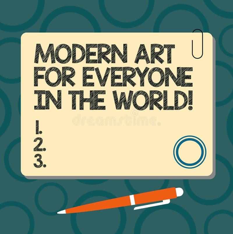 Muestra del texto que muestra el mundo moderno de Art For Everyone In The La foto conceptual separó creatividad al otro cuadrado  libre illustration