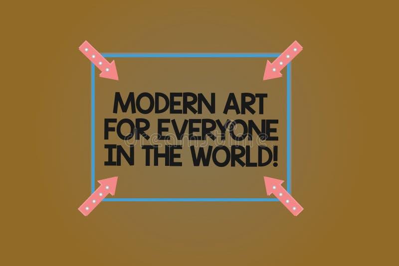 Muestra del texto que muestra el mundo moderno de Art For Everyone In The La foto conceptual separó creatividad al otro cuadrado  ilustración del vector