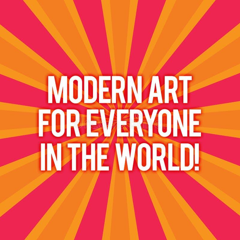Muestra del texto que muestra el mundo moderno de Art For Everyone In The La foto conceptual separó creatividad al otro resplando stock de ilustración