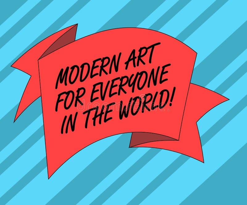 Muestra del texto que muestra el mundo moderno de Art For Everyone In The La foto conceptual separó creatividad a la otra demostr ilustración del vector