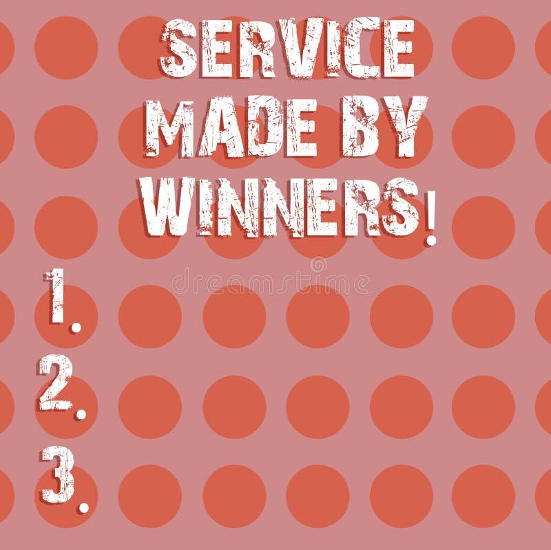Muestra del texto que muestra el servicio hecho por los ganadores Foto acertada excelente del círculo de la ayuda ayuda conceptua stock de ilustración