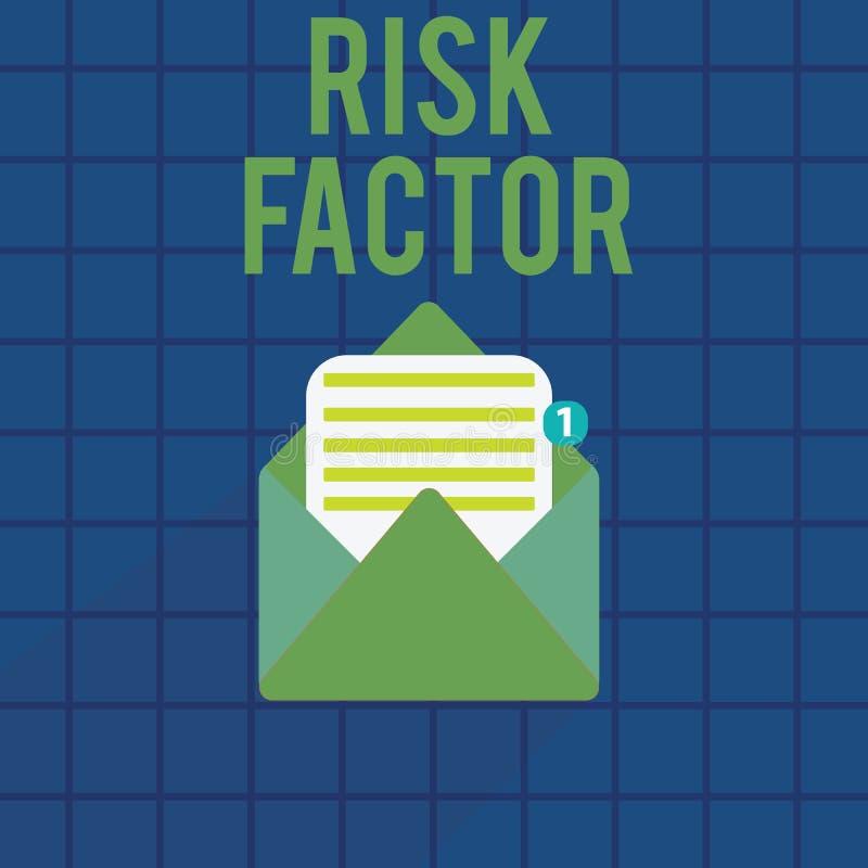 Muestra del texto que muestra factor de riesgo Foto conceptual algo que sube la ocasión de una demostración desarrollando una enf ilustración del vector