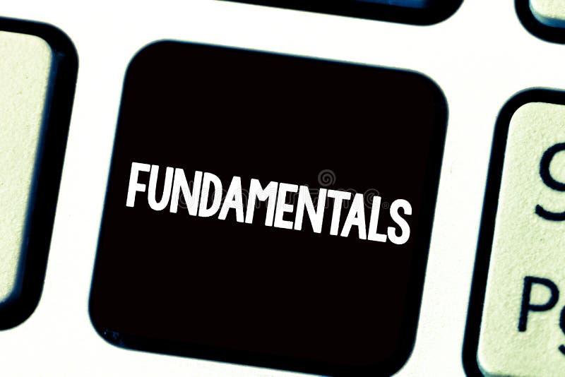 Muestra del texto que muestra fundamentales Principios primarios centrales de las reglas de la foto conceptual en los cuales se b foto de archivo