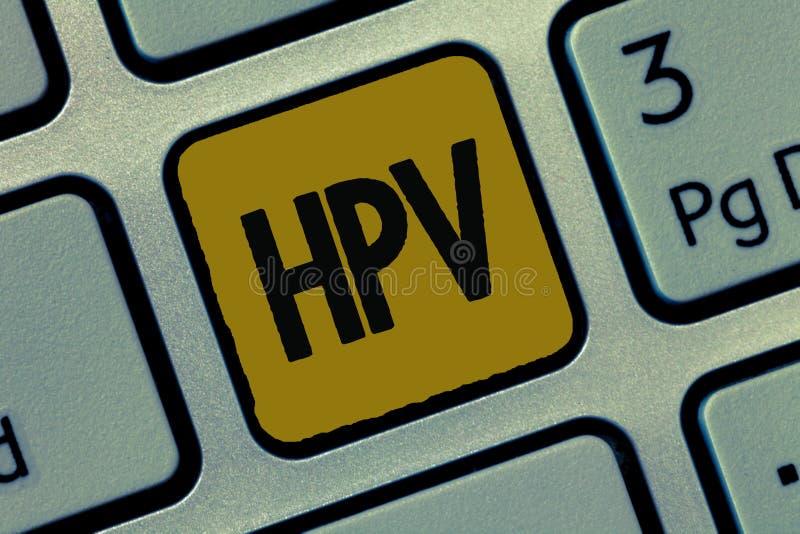 Muestra del texto que muestra Hpv Grupo conceptual de la foto de virus que afectan a su piel y a las membranas húmedas fotografía de archivo