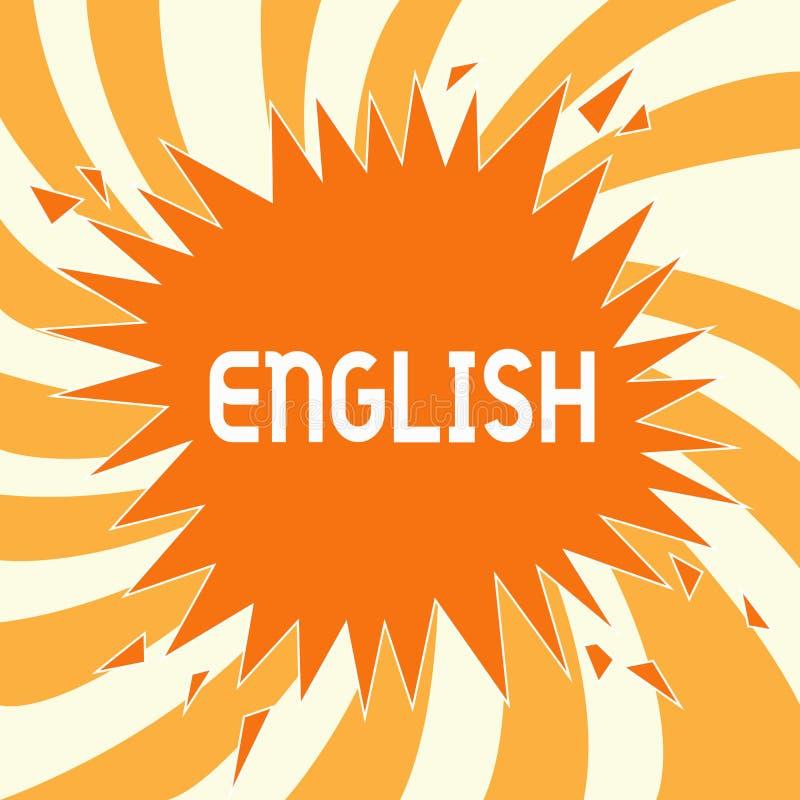 Muestra del texto que muestra inglés La foto conceptual se relacionó con Inglaterra que mostraba a cultura de la lengua la clase  libre illustration
