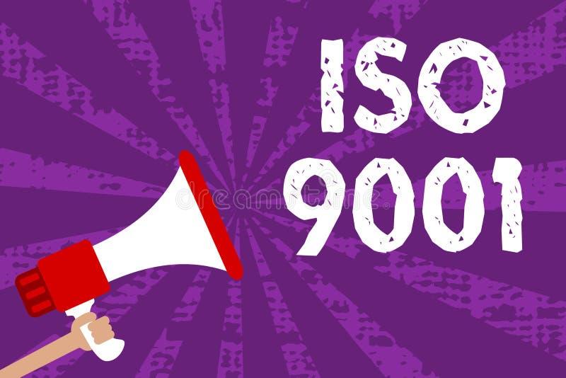 Muestra del texto que muestra ISO 9001 Las organizaciones diseñadas foto conceptual de la ayuda a asegurar cubren las necesidades stock de ilustración