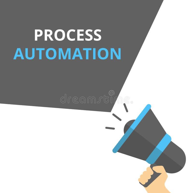 Muestra del texto que muestra la automatización de proceso libre illustration