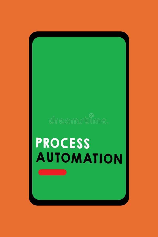 Muestra del texto que muestra la automatización de proceso La transformación conceptual de la foto aerodinamizó robótico para evi libre illustration