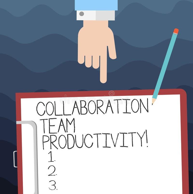 Muestra del texto que muestra la colaboración Team Productivity Metas conceptuales del equipo del sistema de la foto para alcanza libre illustration