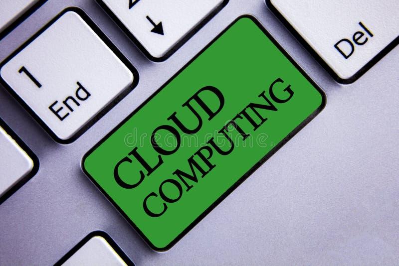 Muestra del texto que muestra la computación de la nube Palabras virtuales conceptuales del texto dos del servidor de datos del a ilustración del vector