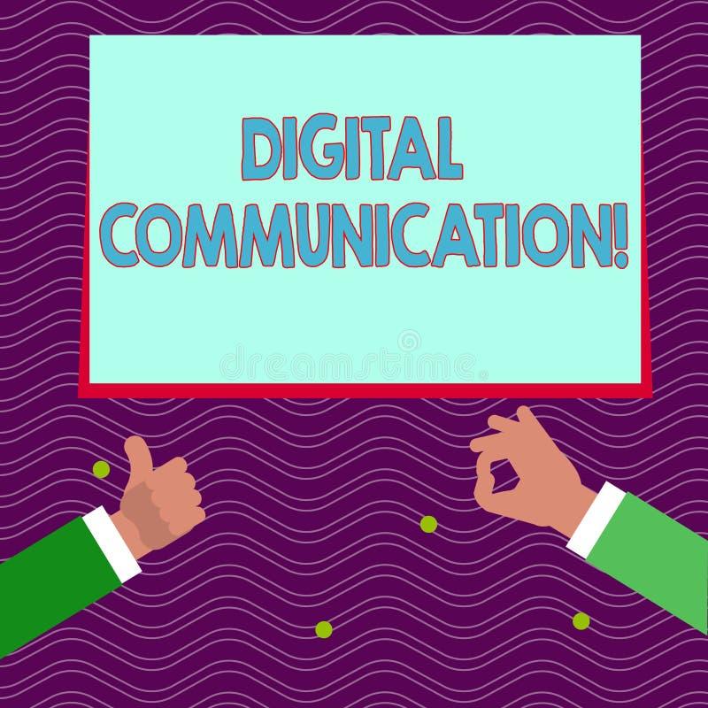 Muestra del texto que muestra la comunicación de Digitaces Intercambio conceptual de la foto de datos que transmiten en una form stock de ilustración