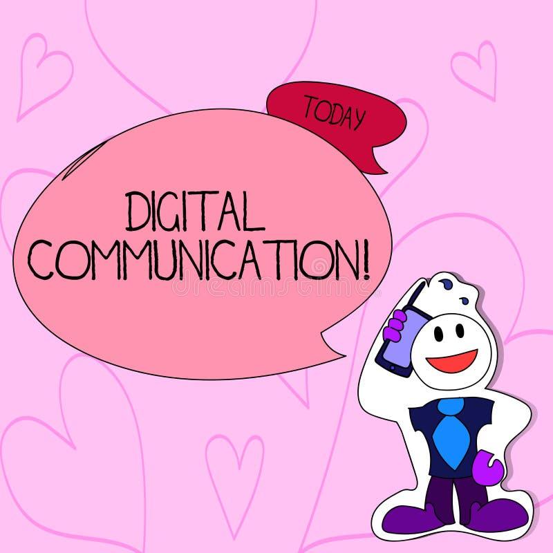Muestra del texto que muestra la comunicación de Digitaces Intercambio conceptual de la foto de datos que transmiten en una form libre illustration
