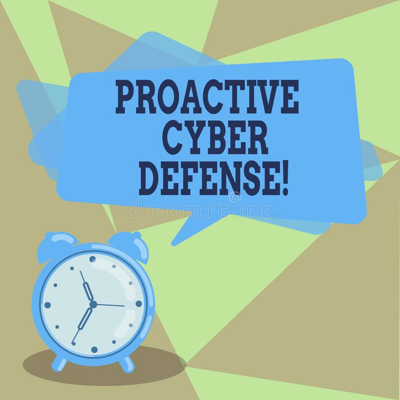Muestra del texto que muestra la defensa cibernética dinámica Anticipación conceptual de la foto para oponerse a un ataque que im libre illustration