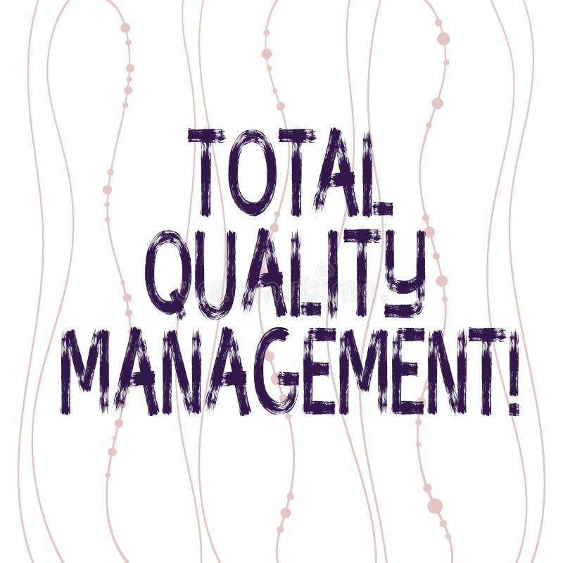 Muestra del texto que muestra a la gestión de calidad total La vertical de proceso de la mejora de organización constante concept stock de ilustración