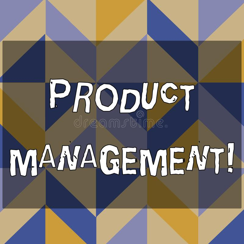 Muestra del texto que muestra la gestión de productos Función de organización del ciclo vital de la foto conceptual dentro de una stock de ilustración