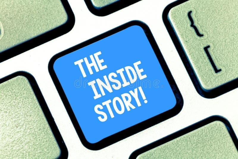 Muestra del texto que muestra la historia interior Información conceptual de la foto que se sabe que muestra solamente de cerca e imágenes de archivo libres de regalías