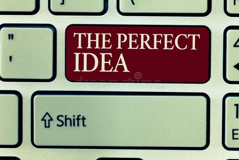 Muestra del texto que muestra la idea perfecta Pensamiento excepcional o sugerencia de la foto conceptual sin la comparación fotografía de archivo