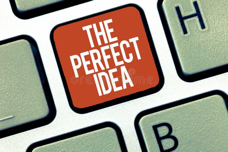 Muestra del texto que muestra la idea perfecta Pensamiento excepcional o sugerencia de la foto conceptual sin la comparación imagen de archivo libre de regalías