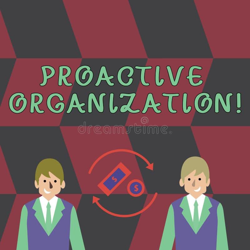 Muestra del texto que muestra la organización dinámica Acción conceptual de la foto y resultar comportamiento orientado de un  ilustración del vector