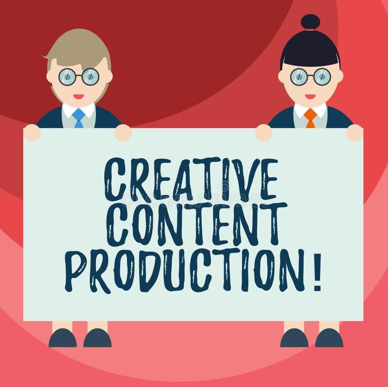 Muestra del texto que muestra la producción contenta creativa Foto conceptual que desarrolla y que crea al varón visual o escrito ilustración del vector