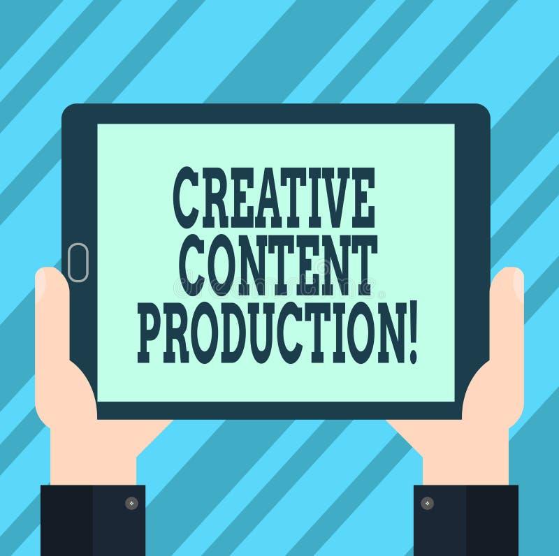 Muestra del texto que muestra la producción contenta creativa Foto conceptual que desarrolla y que crea los activos visuales o es libre illustration