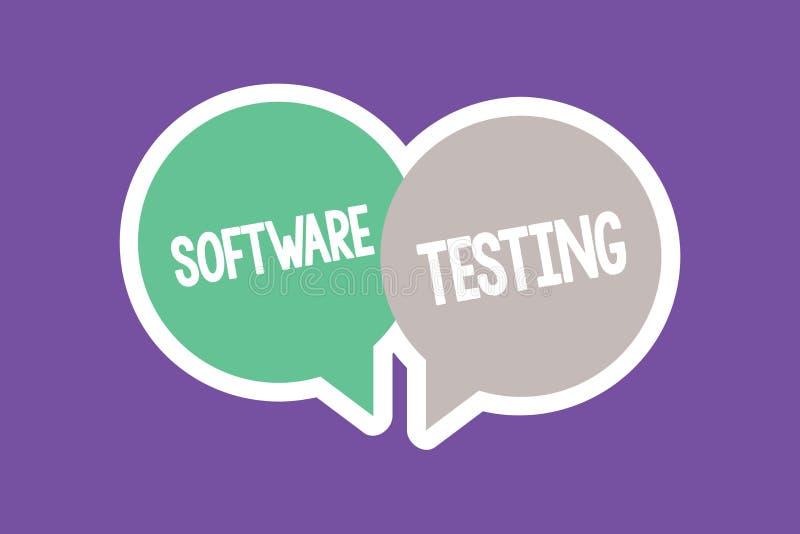 Muestra del texto que muestra la prueba del software La investigación conceptual de la foto proporciona la información sobre la c stock de ilustración