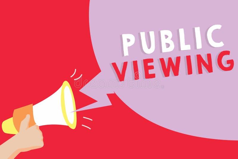 Muestra del texto que muestra la visión pública Foto conceptual capaz de ser visto o de ser sabido por todo el mundo abierto a la ilustración del vector