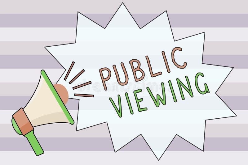 Muestra del texto que muestra la visión pública Foto conceptual capaz de ser visto o de ser sabido por todo el mundo abierto a la stock de ilustración