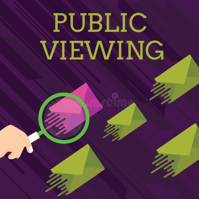 Muestra del texto que muestra la visi?n p?blica Foto conceptual capaz de ser visto o de ser sabido por todo el mundo abierto a la ilustración del vector