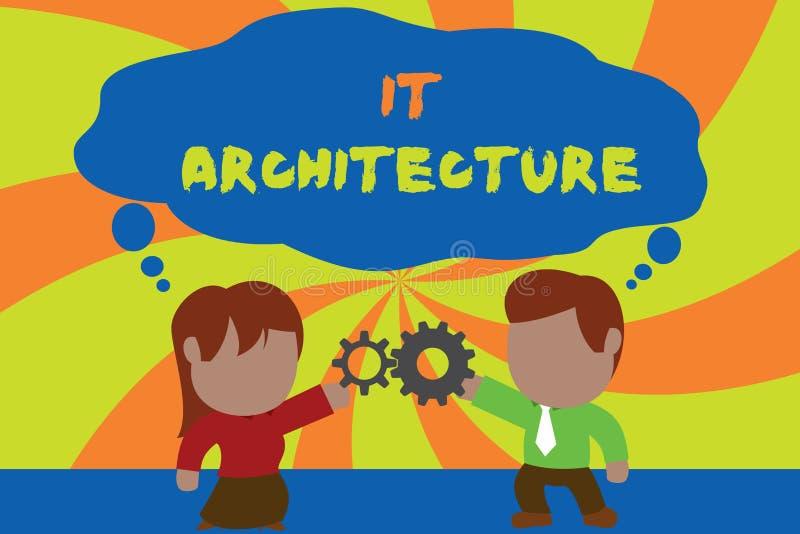 Muestra del texto que le muestra arquitectura E ilustración del vector