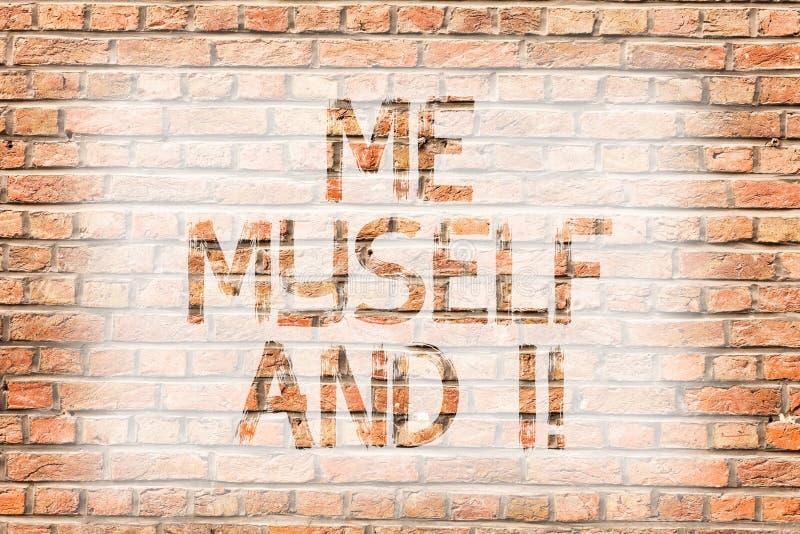 Muestra del texto que me muestra mismo e I Responsabilidad que toma selfindependent egoísta de la foto conceptual de la pared de  imagenes de archivo