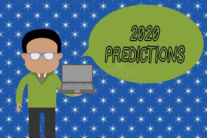 Muestra del texto que muestra 2020 predicciones Lista conceptual de la foto de cosas usted siente eso el ir a suceder sin la situ stock de ilustración