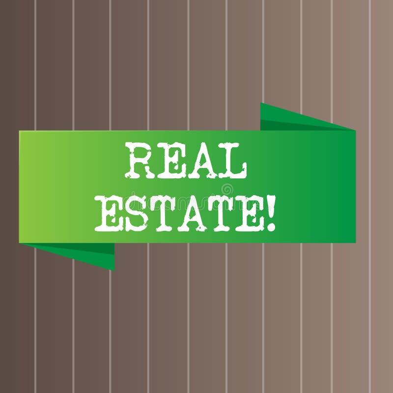 Muestra del texto que muestra Real Estate La foto conceptual que posee la propiedad que consiste en la tierra vacía o los edifici libre illustration