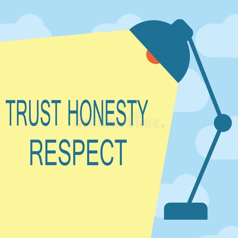 Muestra del texto que muestra respecto de la honradez de la confianza Rasgos respetables de la foto conceptual una faceta del bue libre illustration