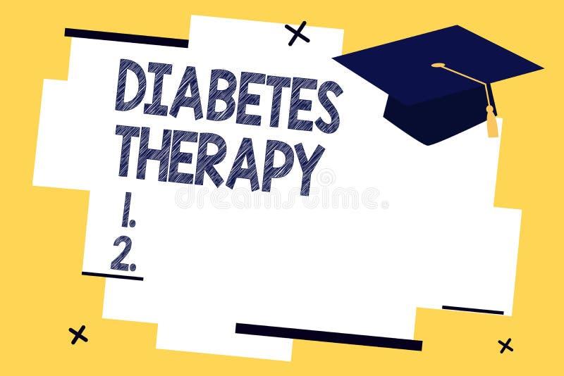 Muestra del texto que muestra terapia de la diabetes La foto conceptual fijó al paciente que s es glucosa en sangre llana a como  libre illustration