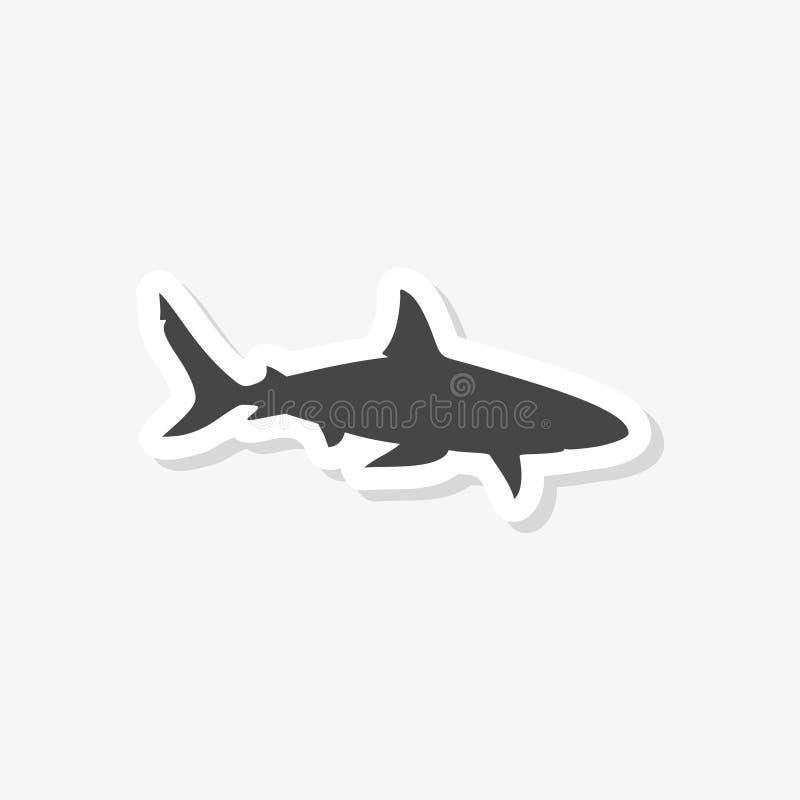 Muestra del tiburón, etiqueta engomada del tiburón, icono simple del vector libre illustration