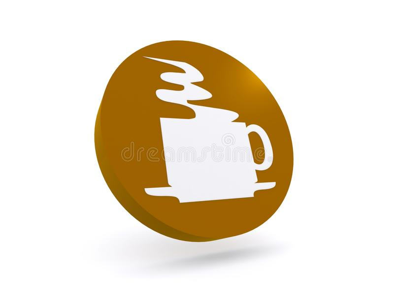Muestra del tiempo del café stock de ilustración