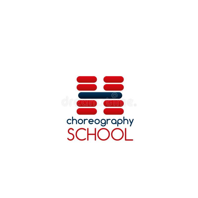 Muestra del vector de la escuela de la coreografía stock de ilustración